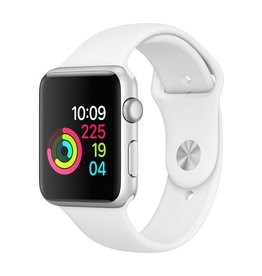 Apple Apple Watch Series 1 - 42mm - Silver Aluminum Case with White Sport Band