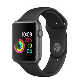Apple Apple Watch Series 1 - 42mm - Space Gray Aluminum Case with Black Sport Band