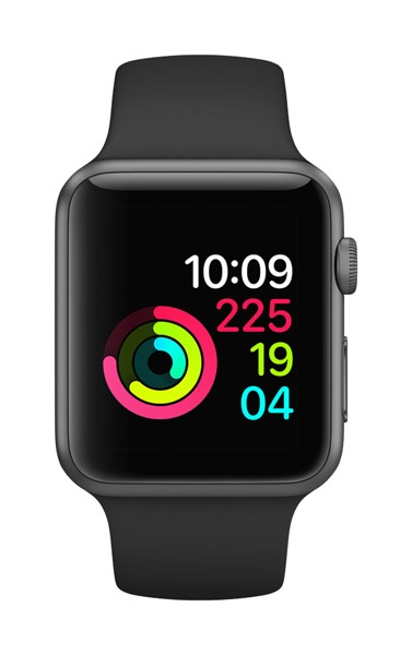 Apple Apple Watch Series 3 - GPS - 42mm - Space Gray Aluminum Case with Black Sports Band