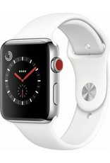 Apple AppleWatch Series 3 GPS+Cellular 42mm Stainless Steel w/ White Band