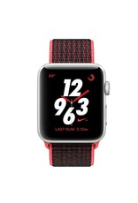 Apple Apple Watch Nike+ - GPS + Cellular - 42mm - Silver Aluminum Case with Bright Crimson/Black Sport Loop