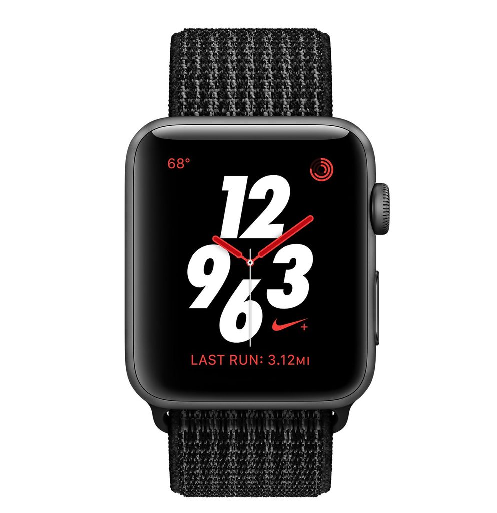 Apple Apple Watch Nike+ - GPS + Cellular - 42mm - Space Gray Aluminum Case with Black/Pure Platinum Nike Sport Loop