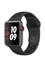 Apple AppleWatch Nike+GPS+Cellular 42mm Space Gray Aluminum Case w/ Black Nike Sport band