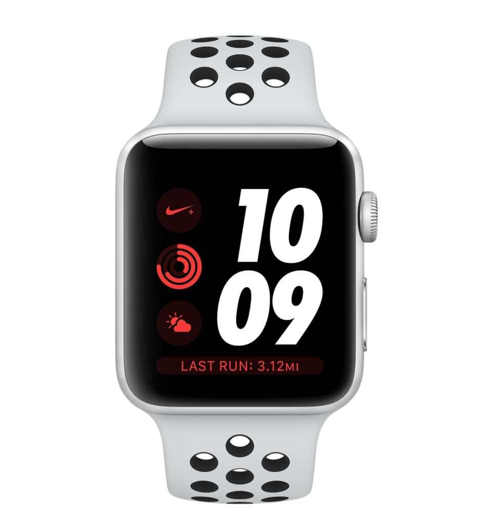 Apple AppleWatch Nike+GPS 38mm Silver Aluminum Case w/ Pure Platinum/Black Nike Sports Band