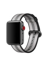 Apple Black Stripe Woven Nylon - 42mm