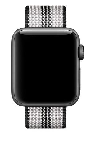 Apple 42mm black stripe woven nylon