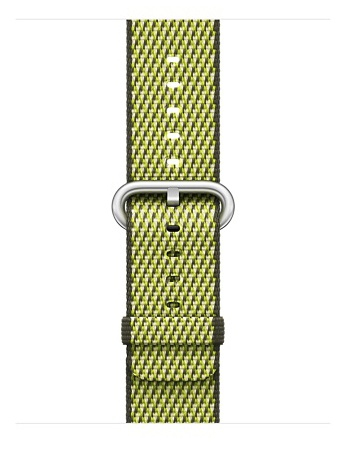 Apple Dark Olive Check Woven Nylon - 42mm