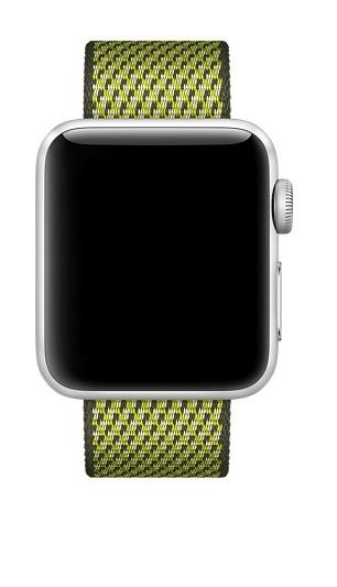 Apple 42mm Dark olive check woven nylon