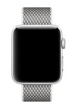 Apple 42mm white check woven nylon
