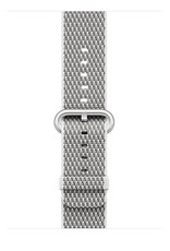 Apple White Check Woven Nylon - 42mm