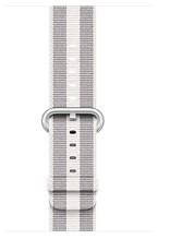 Apple 42mm white stripe woven nylon