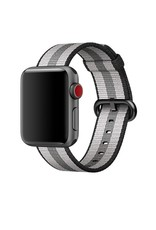 Apple 38mm black stripe woven nylon