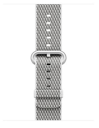Apple 38mm white check woven nylon