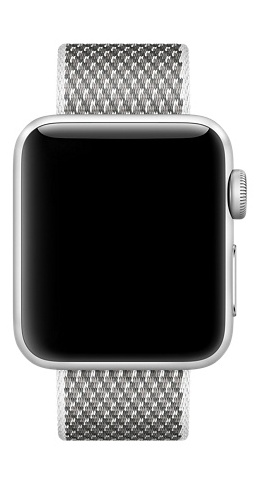 Apple White Check Woven Nylon - 38mm