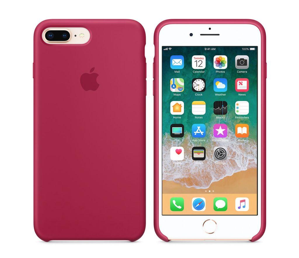 Apple iphone 8 plus 7 plus silicone case rose red creighton ijay store - Iphone 8 plus case ...