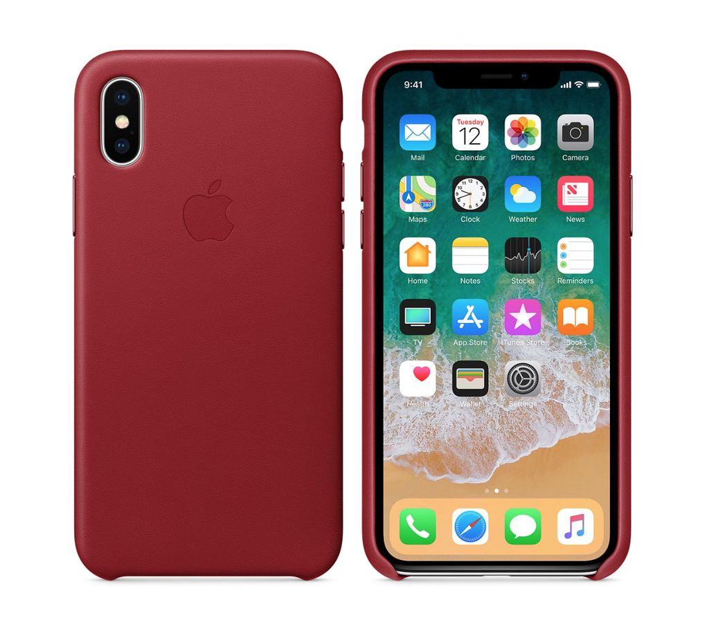 Apple iPhone X Leather Case - Product Red