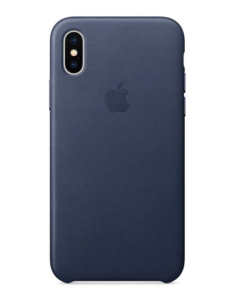 Apple iPhone X Leather Case - Midnight Blue