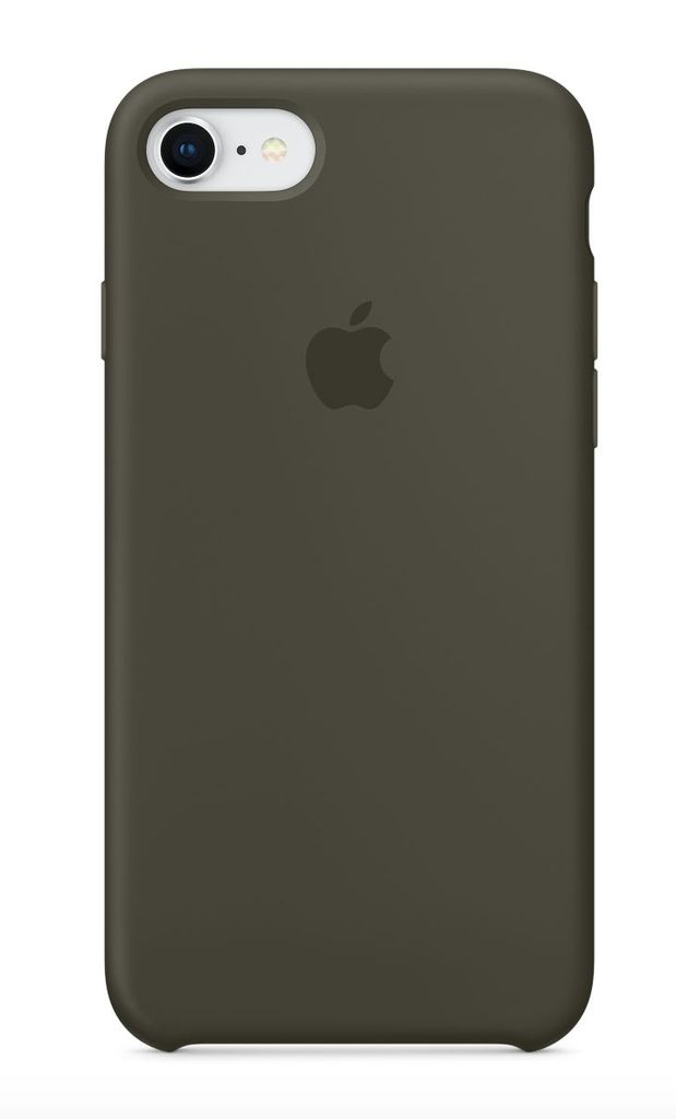 Apple iPhone 8/7 Silicone Case - Dark Olive