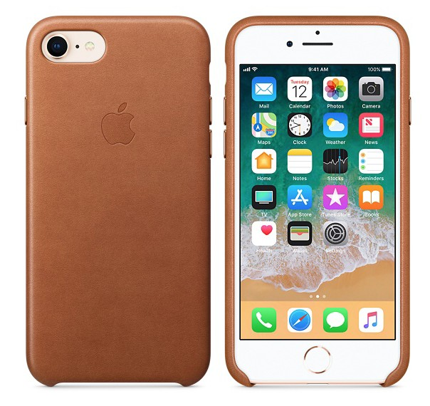 Apple iPhone 8/7 Leather Case - Saddle Brown