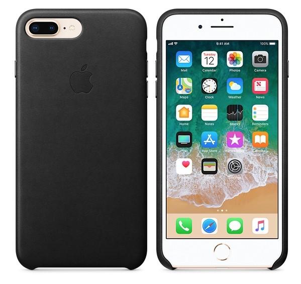 Apple iPhone 8 Plus/7 Plus Leather Case - Black