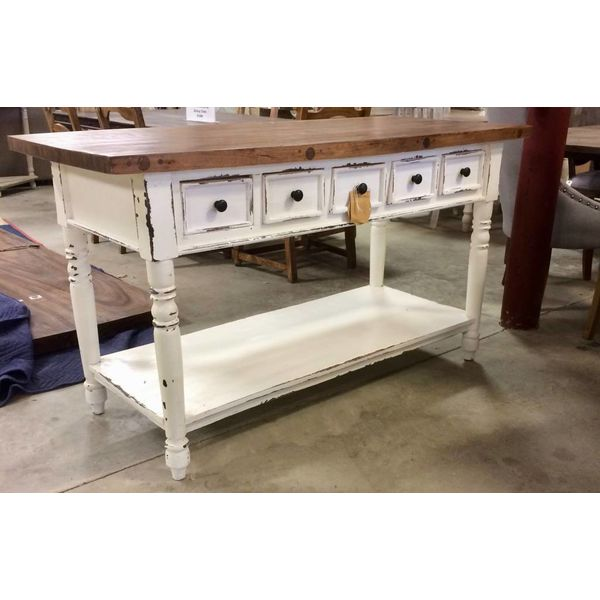 Pacific Kitchen Island Butcher Block Top 5 Drawer PP-TAB1139S