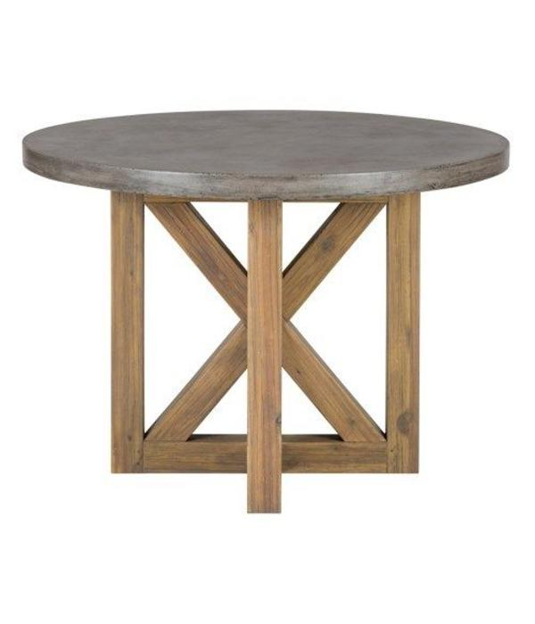 Jofran Boulder Ridge Round Concrete Dining Table 43""