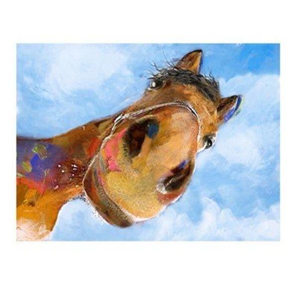 """""""WHOA"""" Horse Print CVTOP2158"""
