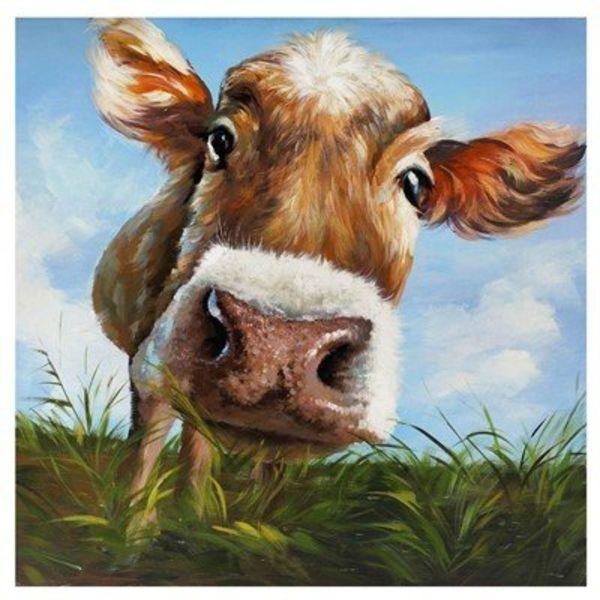 Hello Cow Art Print CVTOP1747