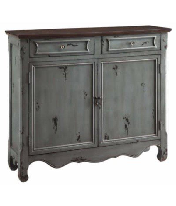 Crestview Greystone 2 Door 2 Drawer Cupboard
