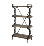 Crestview Industrial Metal and Wood Etagere