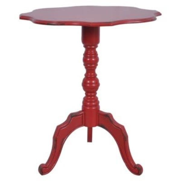 Venetian Antique Red Accent Table