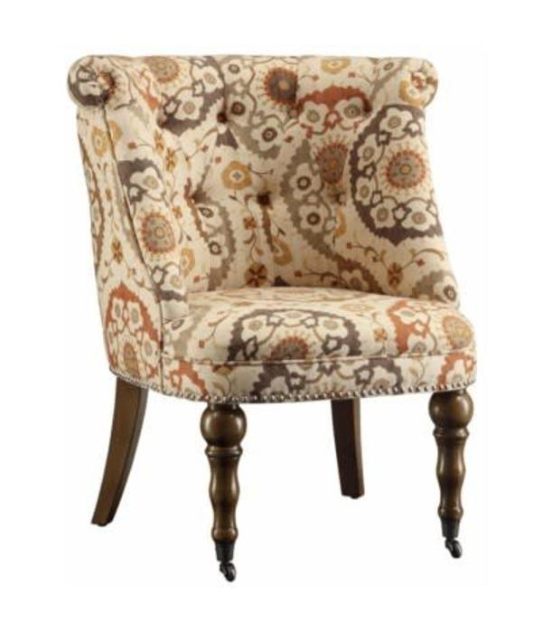 Crestview Hutchison Pattern Fabric Chair