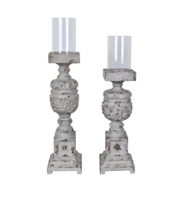 Crestview Clara Candle Holders Set of 2
