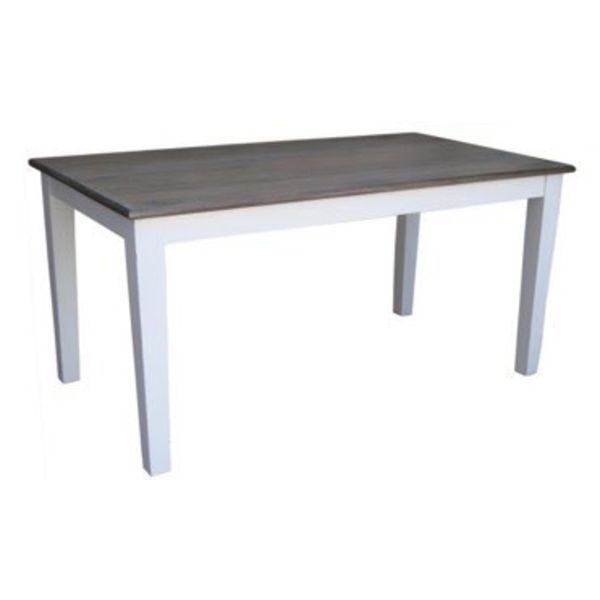 "Pranjo Dining Table 71""L Salvage and Distressed White"