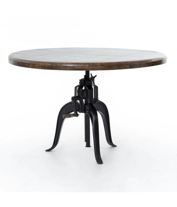 """Four Hands Rockwell Adjustable Round Dining Table 48"""""""