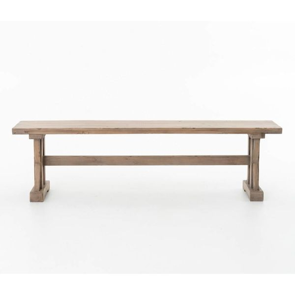 Four Hands Tuscan Spring Dining Bench Sundried Wheat