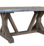 Pink City Industries Rail Road Dining Table 6' Light French Gray