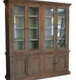 Pink City Industries Head Springs Large Buffet & Hutch in Mango with Vintage Finish