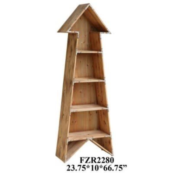 Chickasaw Rustic Wood Arrow Bookshelf CVFZR2280