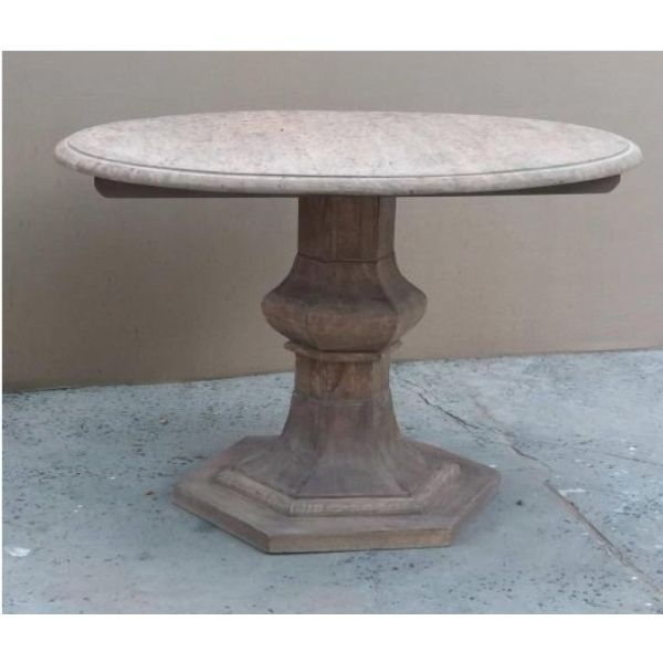 """Jolie MCL 39"""" Round Table Light French Grey"""