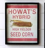 Park Hill Framed Feedsack Howast's Hybrid Corn IM6520
