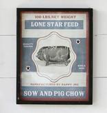 Park Hill Framed Feedsack Pig Chow IM6531