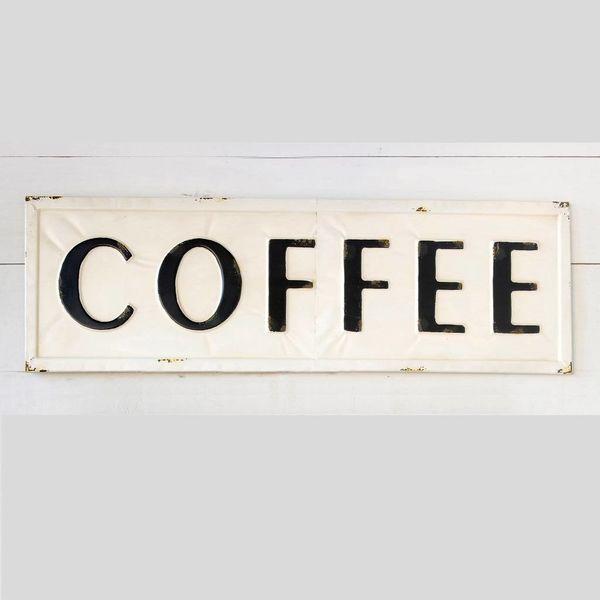 Embossed Metal Coffee Sign FH6090