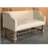 Pink City Industries Boudoir Bench Mango Linen