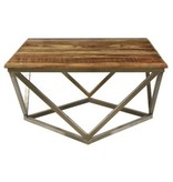 Crestview Mango Wood and Metal Table CVFNR460