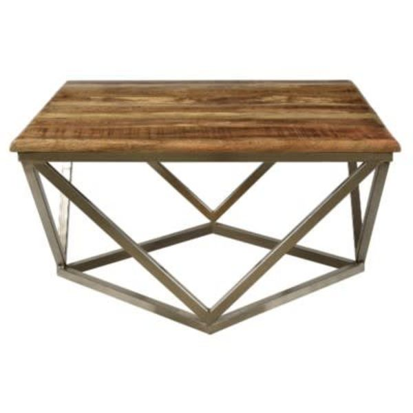 Mango Wood and Metal Table CVFNR460