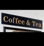 Park Hill Embossed Coffee and Tea Sign FH6102