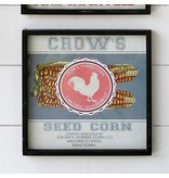 Park Hill Framed Feedsack Crows Seed Corn IM6519