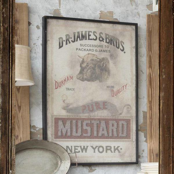 Framed Mustard Print on Canvas IM1017