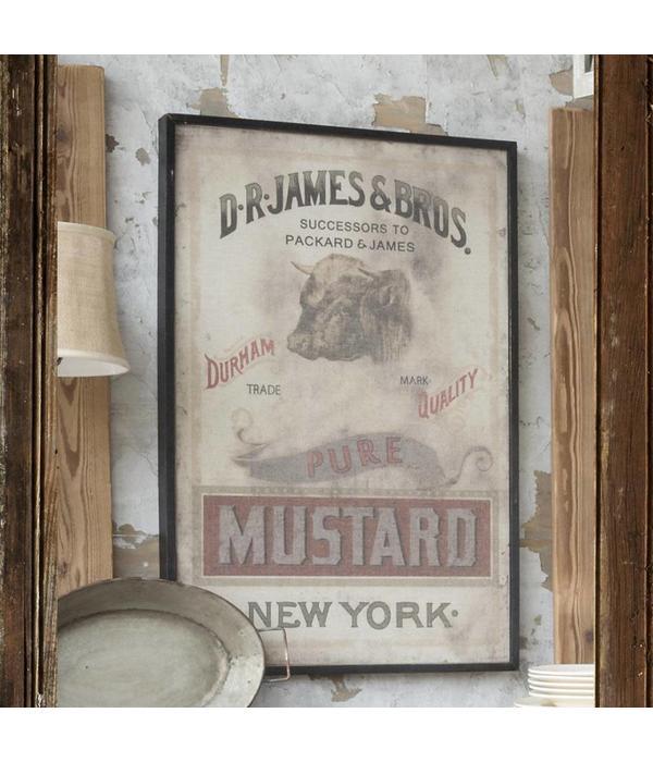 Park Hill Framed Mustard Print on Canvas IM1017
